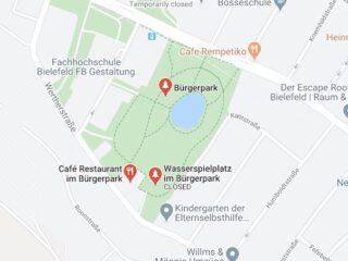 Cafés im Bürgerpark Oetkerpark Bielefeld