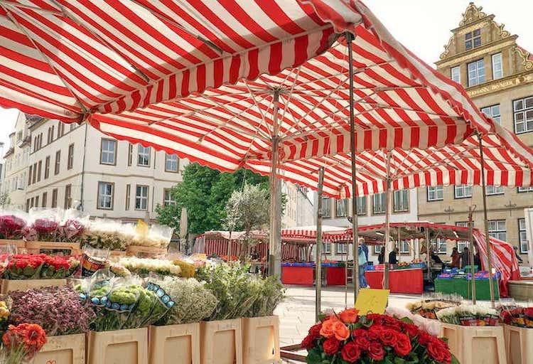 Markt in der Bielefelder Altstadt