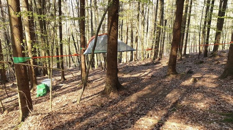 Schwebezelt Camping / Glamping in Bielefeld im Baumhaushotel Solling