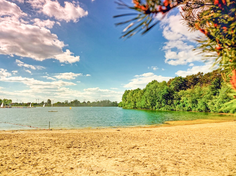 Strand des Campingparks Heidewald Bielefeld und Umgebung