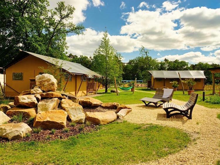 Zelte des Campingparks Heidewald Bielefeld und Umgebung
