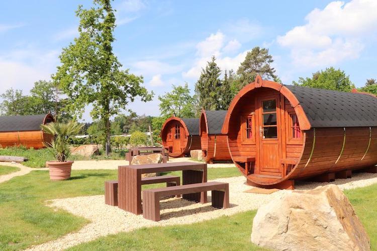 Schlafffässer des Campingparks Heidewald Bielefeld und Umgebung