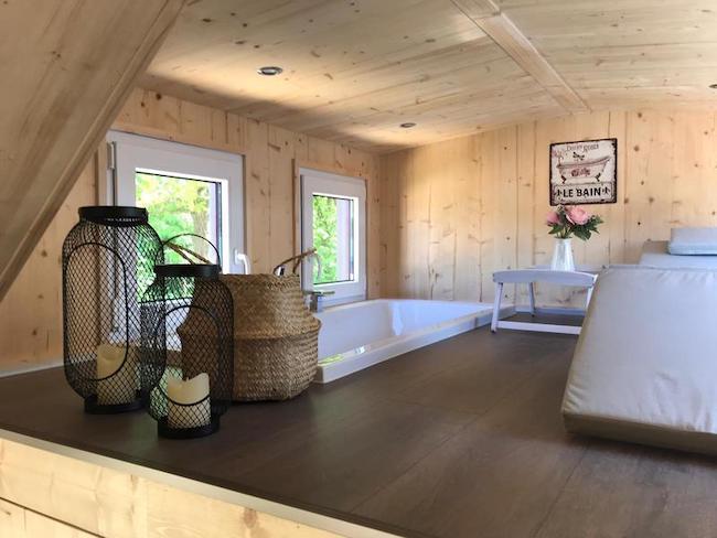 Tiny house von innen beim Campingpark Heidewald Bielefeld und Umgebung