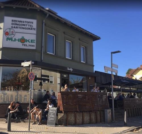 Terrasse Café Suutje Bielefeld am Siegfriedplatz
