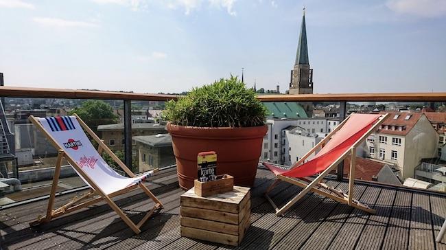 Rooftop bar & Restaurant mit Panorama Aussicht über Bielefeld