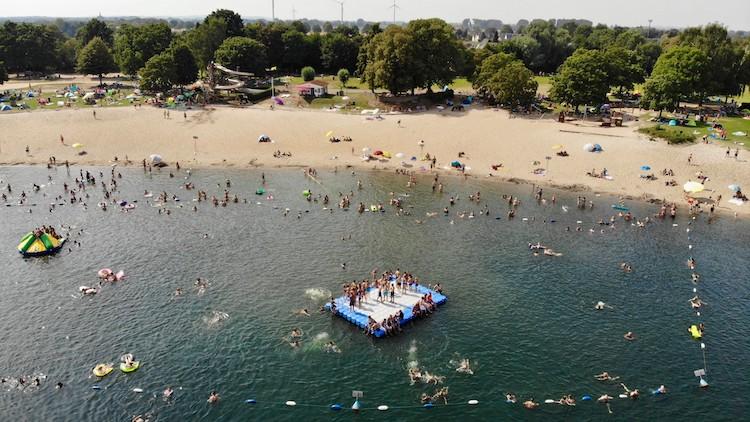 Strand des Glamping am Wisseler See Badestrand Bielefeld und Umgebung