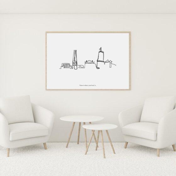Skyline Poster Bielefeld