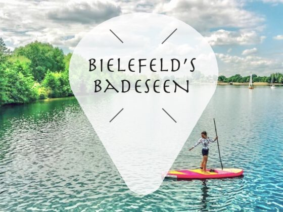 Badesee / See in Bielefeld zum schwimmen